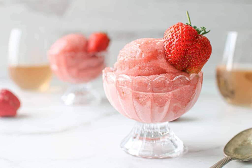 strawberry rose sorbet