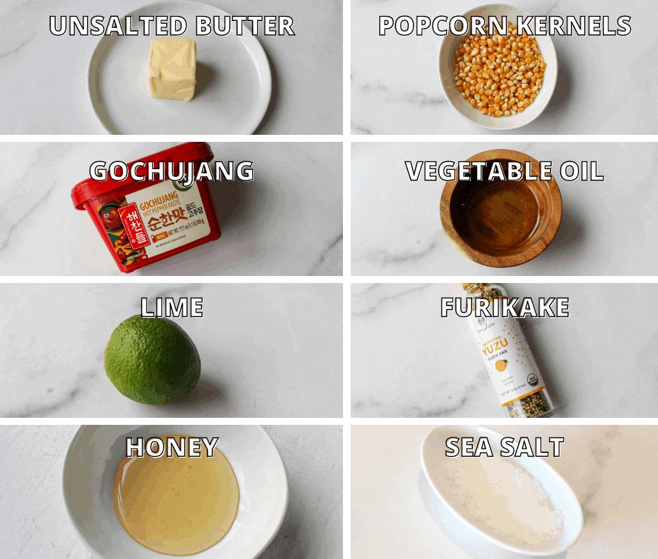 Gochujang Lime Popcorn Ingredients Photo