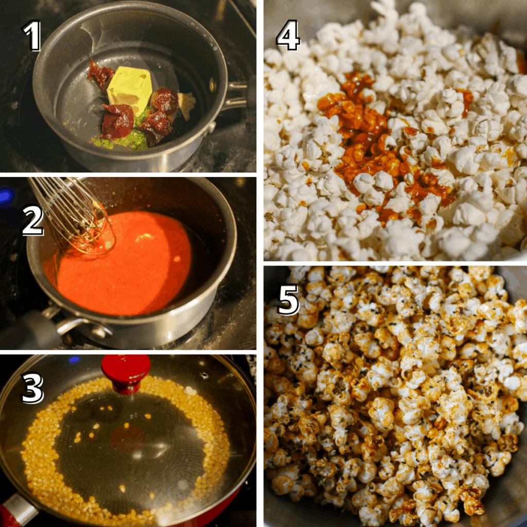 Gochujang Lime Popcorn Step-by-step process photos