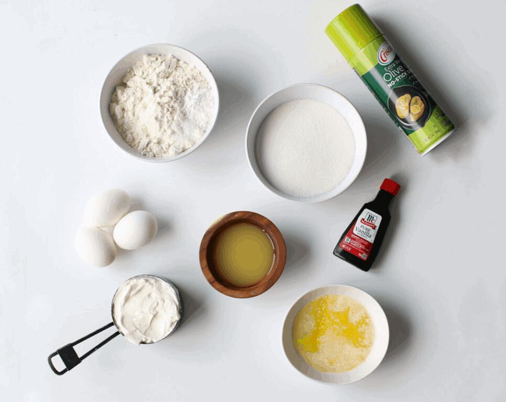 Orange Juice Yogurt Loaf Ingredients
