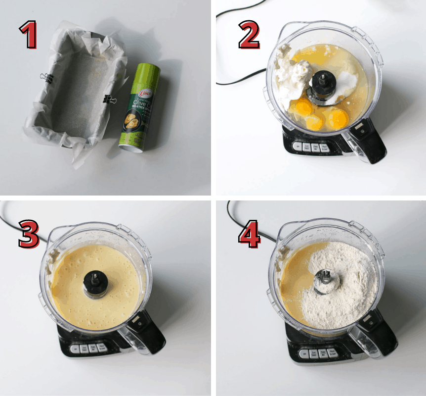 Yogurt Orange Juice Loaf Step 1-4