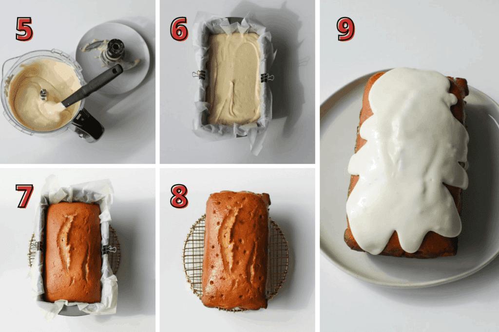 Yogurt Orange Juice Loaf Step 5-9