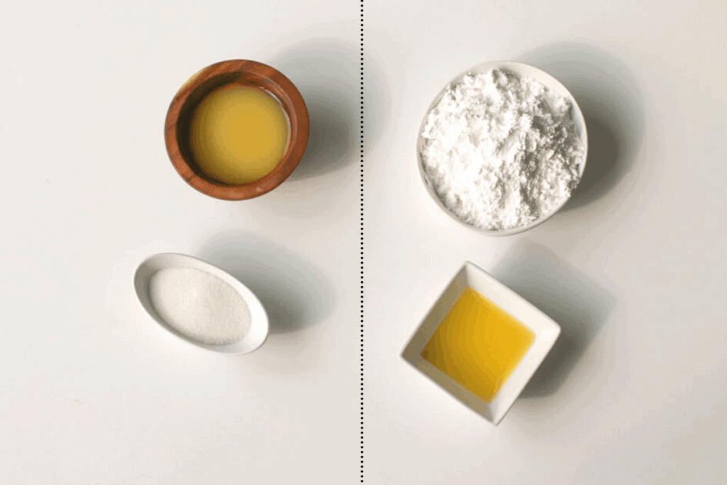 Orange Juice Glaze and Syrup Ingredients