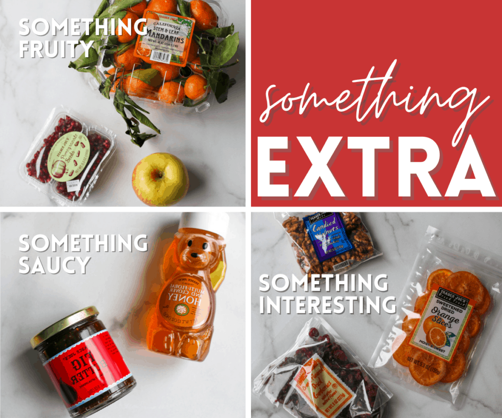 Something extra ingredients for cheese & charcuterie board