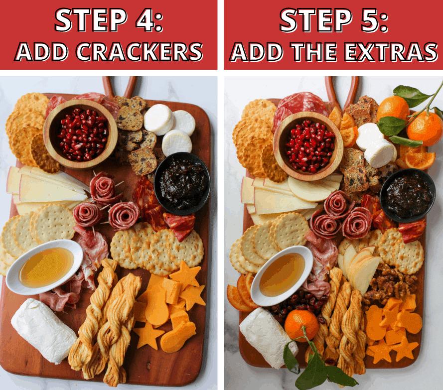 Trader Joe's Winter Cheese & Charcuterie Board Steps 4-5
