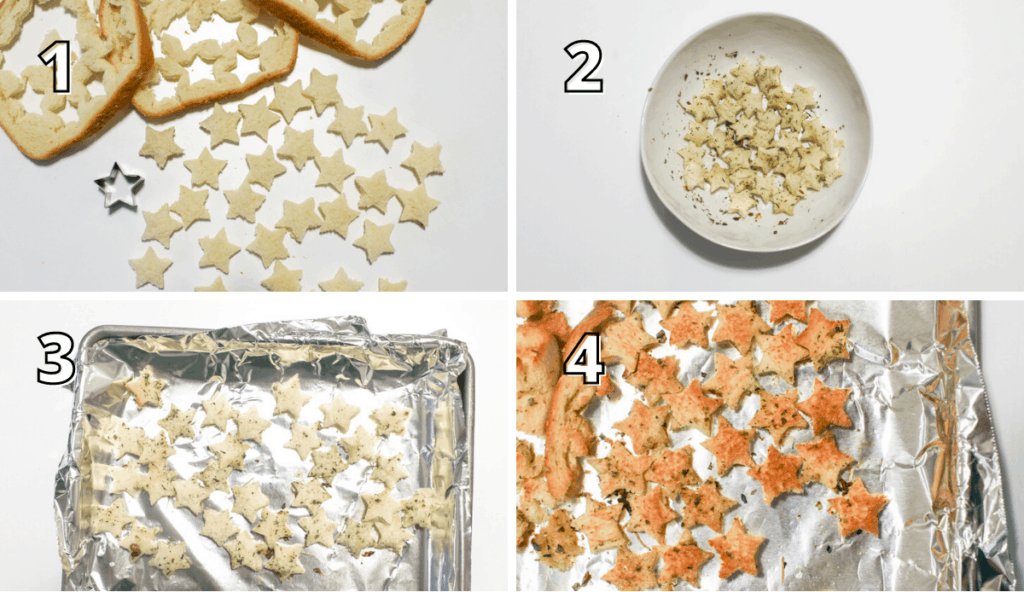 Croutons Step by Step Process Photos