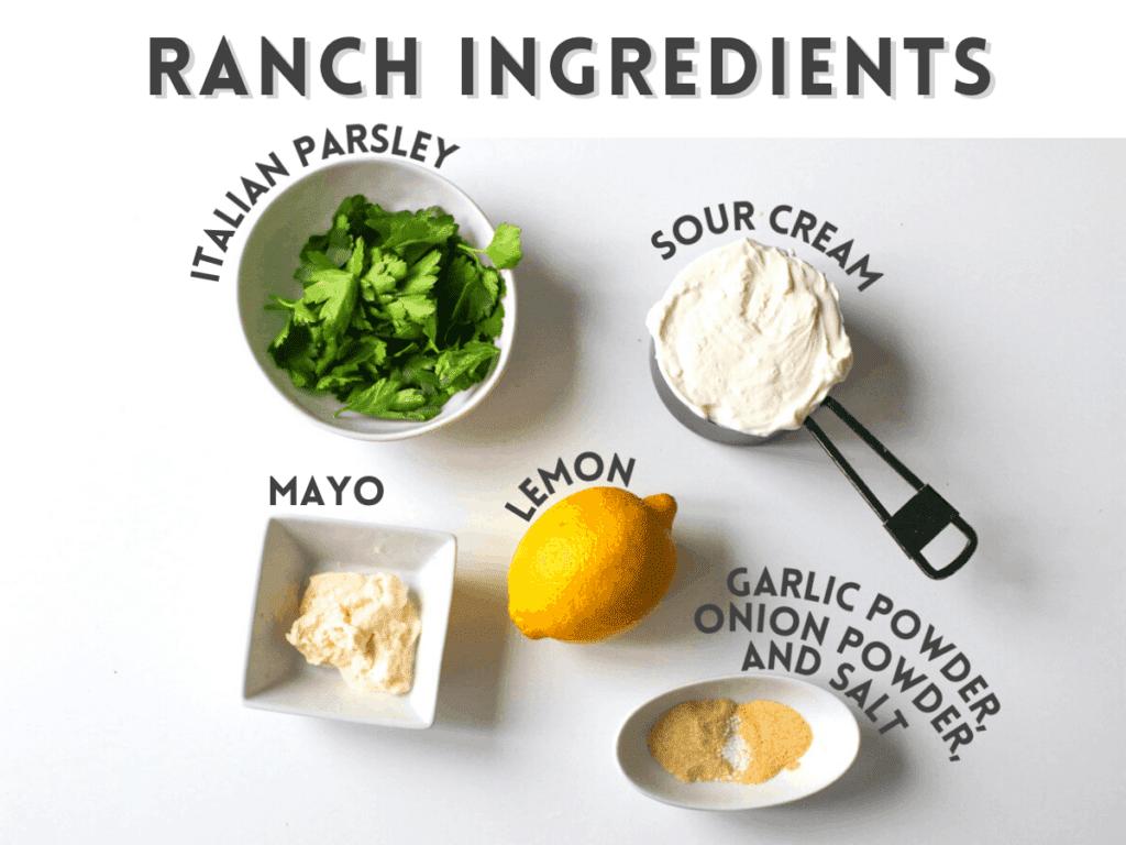 Ranch Dressing Ingredients Photos