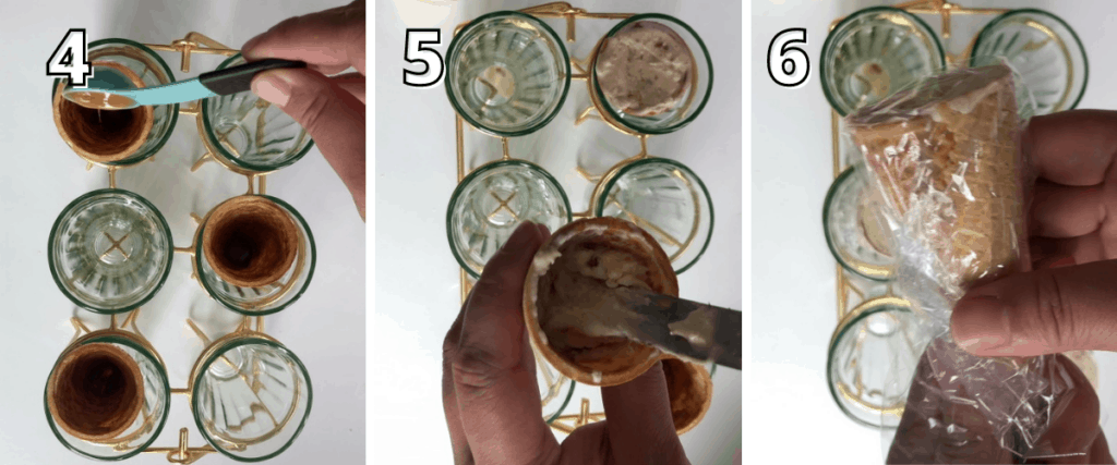 Cookie Butter Drumstick Ice Cream Steps 4-6