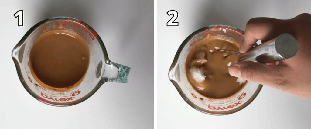 Cookie Butter Magic Shell Steps 1 -2 with corresponding text